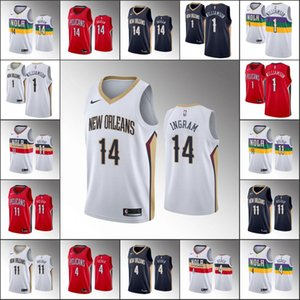 Men New OrleansPelicansBasketball Jersey Brandon Ingram Zion Williamson Jrue Holiday J.J. RedickNBA 2019-20 Jerseys