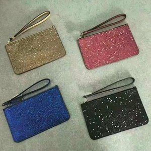 2020 New wallet 4 colors clutch bags Christmas stars wallets wristlets shining glitter sparkle coin purses for women