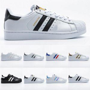 Shoes (Nuovo) superstar con il Classic Shell Toe Superstars Sneakers 8 colori 80s Orgoglio stella eccellente delle donne degli uomini degli addestratori Sport Scarpe Eur Size 36-45