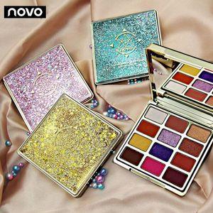 5255 Ombre à paupières Novo Bahamian Mirage Quicksand INS Miroir à paupières vibrant nacré mat velouté Ombre à paupières Unique Flash Glitter Shimmer Eyeshadow