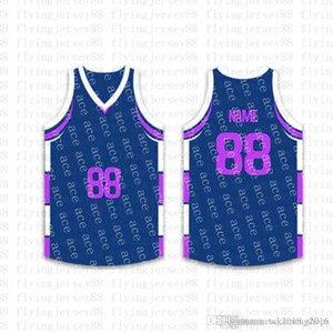 2020 Top Custom Basketball Jerseys der Männer Stickerei Logos Jersey Freies Verschiffen billig Großhandel jeder Name eine beliebige Anzahl Größe S-XXLjr74