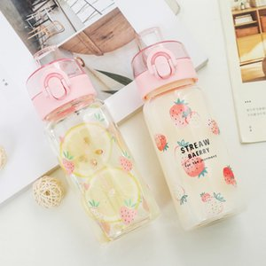 Fantastic Cute Strawberry Straw Cup Simple Large Capacity Transparent Net Red Ins Wind Hand Cup Men and Women Students Glass New