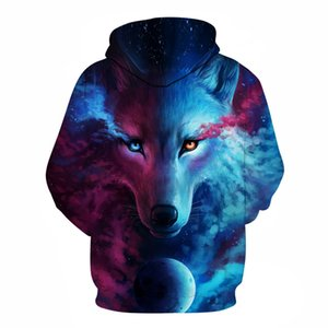 2019 Brand Where Light And Dark Meet by JoJoesart Wolf 3D Hoodies Sweatshirts Men Women Hoodie Casual Tracksuits 2 Hoodie Coats