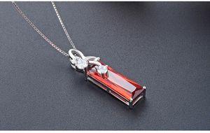 ciondoli in argento S925 regali di Natale di alta qualità con S925 collane di cristallo gioielli personalizzazione zirconi cubici della signora OEM DD C4