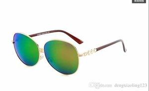 Round Metal Sunglasses Designer Gold Flash Glass Lens For Mens Womens Mirror Sunglasses Round unisex sun glasse free shipping5316