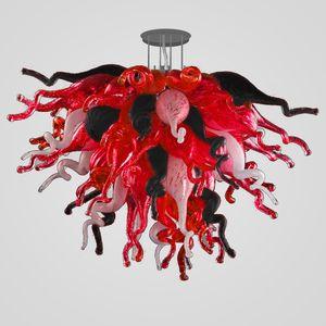 Moderna iluminación rústica accesorios de decoración del hogar 28 pulgadas Negro Rojo Blanco Color del LED CE UL vidrio soplado iluminación de la lámpara envío