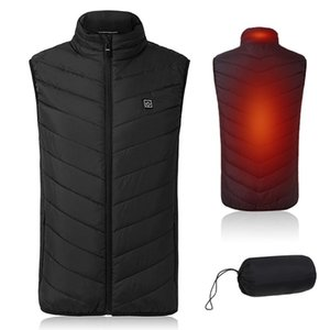 Lightweight Winter Warm Waistcoat Electric Heating Vest USB Charging Heated Coat Commuting Walking Thermal Vest with Pocket