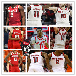 Personalizzato 2021 College NC State Wolfpack Jersey Basket Dennis Smith Jr. Jericole Hellems Devon Daniels Markell Johnson Manny Bates Andree