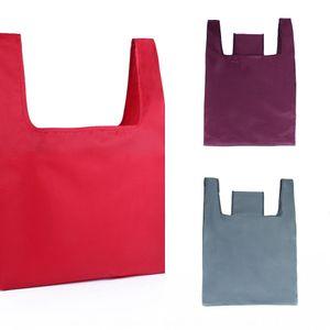 Plain 210D polyester environmentally friendly shopping bag foldable portable home portable shopping bag