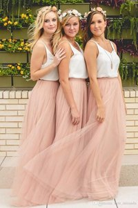 Hot Sale Cheap Woboyi Bridesmaid Dresses Tulle Skirt Blush Prom Dresses Bridesmaid Maxi Skirt Evening Party Gowns HY249