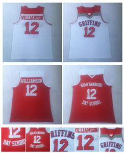 12 Zion Williamson Jersey Spartanburg Griffins Day High School College Basketbal Jersey High Quality