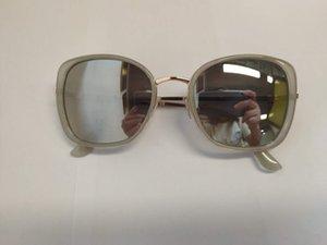 Nouvelle couleur or brillant cadre bague plastique pied sunglasses usine de charnière métallique cabane de vente aviator lunettes de soleil de prescription directe à proximité