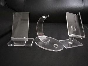 Soporte de acrílico transparente del soporte de exhibición para la caja mecánica de vape kit de inicio de la pluma vape accesorios y accesorios para cigarrillos