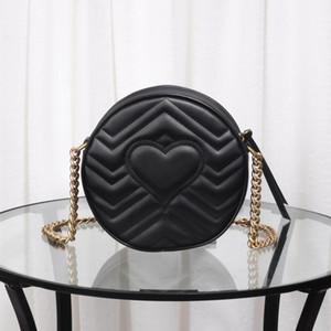 New 2019. Stylish round bag, soft leather with stripes to show splendor, classic handbag, one-shoulder bag