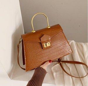 النساء المصممات حقائب يد كبار أزياء أكياس كتف تمساح معدني يد حلقة نساء Broad Bags New Style Bag High Quality#
