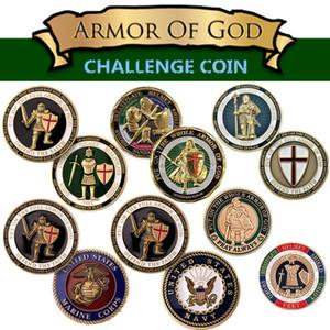 Desafío militar estadounidense Moneda Fuerza Aérea de la Armada de EE. UU. Cuerpo de Marines Armadura de Dios Desafío Moneda Insignia Colección militar Regalos