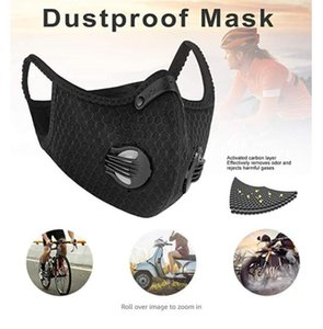 Mesh dust gas mask with dust cover, cycling mask outdoor smog protection for men and women adjustable respirator valve air filter mask