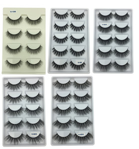 Vôsaidi False Eyelashes Reusable 3D Handmade Fake Eyelashes Set for Natural Look with False Lashes False Eyelashes for Girl and Woman