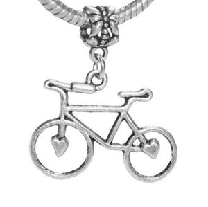 Tiger Chair Cat Heart Charms Bicycle Mermaid Saxophone Seahorse Shell Tower Bicycle Charms Pendant Vintage Silver Mixed Pattern Jewelry Gift