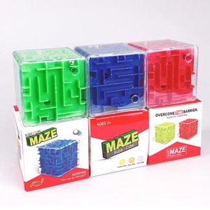 6,8 Cm Stereo Maze 3D de seis lados Stereo Roll-on Inteligência Maze Toy Inteligência Maze descompressão Pontos de Verificação