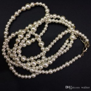 New! Classic style long necklace High quality fashion pearl bead necklace for women Pendant necklace for wedding jewelry