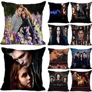 The Twilight Saga Breaking Dawn Pillowcase Bedroom Home Decorative Gift Pillow Cover Square Zipper Pillow Cases Satin Soft