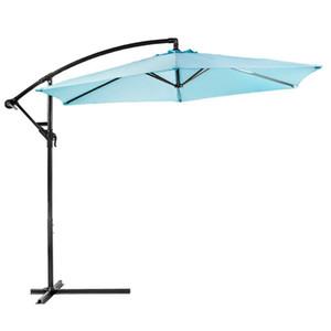 10 pies de cubierta al aire libre Patio Paraguas Off set Inclinación voladizo Canopy colgante Aqua