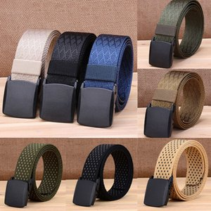 Automatic Buckle Long Canvas Belt Men Women Fashion Waist Band Waist Strap Belts