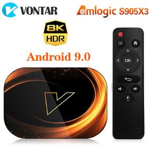 X3 Android 9.0 Amlogic S905X3 4GB 64GB TV Box 8K 1000M Çift Wifi 4K Google Oyuncu Netflix Youtube Media Player'ı 60fps