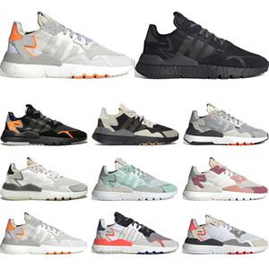 adidas 2019 Hot nite jogger EQT  zapatillas reflectantes para hombre mujer triple negro blanco entrenador transpirable zapatillas deportivas tamaño 36-45