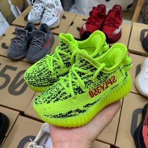 Adidas yeezy 350 V2 Boost Zapatos de bebé para niños Kanye West V2 zapatos corrientes de las zapatillas de deporte reflectante Niño Niña Niño instructor zapatilla de deporte Zebra