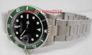 Relógios Vintage Mens ETA Automático 2813 Antique Assista Men Verde Black Alloy moldura de aço 50th Anniversary 16610LV BP Fábrica Dive relógio de pulso