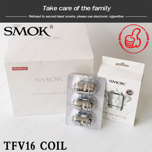 SMOK TFV16 Örgü Bobin 0.17ohm 0.12ohm Çift Örgü Bobinler 0.15ohm Konik Paket Örgü Bobin değiştirme makaraları için TFV16 tankı 100% origial
