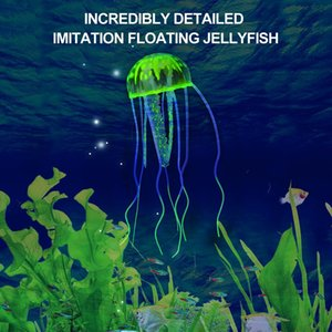 OCDAY brillantes efectos artificial medusas adorno de peces de juguete nuevo de la venta