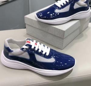 Italienisch neuen Mens Red beiläufige Komfort-Schuhe britischen Designer Mann Freizeit-Schuh-Leder mit Mesh-Breathable Schuh-Plattform Sport Schuhe 38-45