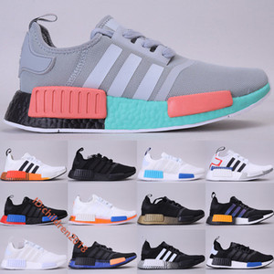 Originals NMD R1 Men Women Running Shoes 2020 New South Beach Core Black Carbon Japan Pack White Cloud White Outdoor Sneakers Size 36-45