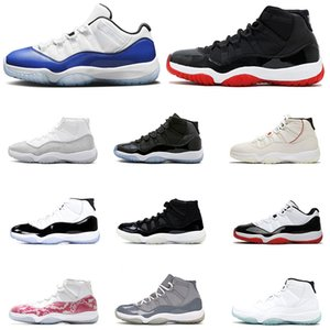 Jumpman 11s Basketball Shoes men women Concord 11 Blue Snakeskin retro White Pink Vast Grey Metallic Silver Cool Grey Air Trainers Size 13