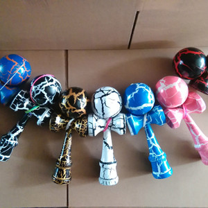 NEW اليابانية التقليدية خشبية ولعب اطفال الكرة Kendama في صدع اليشم السيف الكرة Kendama في 18.5 * 6cm وC2427