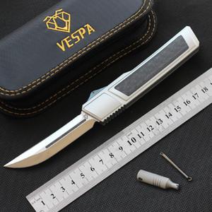 Yüksek kaliteli VESPA Ripper Çift kenar Bıçak M390 Blade karbon fiber Kulp Taktik aracı açık avcılık kamp sağkalım bıçak Cep EDC