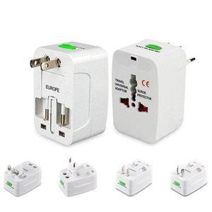 Perakende Paketi ile ABD, AB UK AU Dönüştürücü Plug All For One Seyahat AC Güç Duvar Şarj Universal Uluslararası Adaptörü