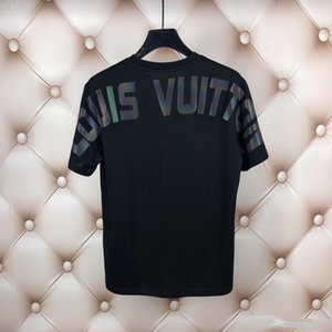 Toptan 2020 Yaz Tasarımcı tişört Erkek Üst Lüks Harf Nakış tişört Erkek Kadın Giyim Kısa Kollu T-shirt