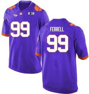 2019 CLEMSON TIGERS CLELIN FERRELL 99 футбольный колледж сшитые высочайшему качеству Джерси бесплатная доставка белый оранжевый фиолетовый