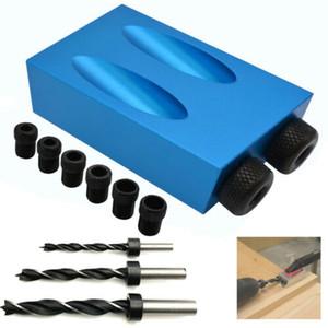 15 ° Pocket trou Jig vis avec Goupille Drill Charpentiers Set Bois Joint outil NOUVEAU
