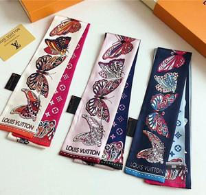 Hotsale Seidenschal exquisiter Schmetterlingsdruck Seidenschal Mode für Männer und Frauen Haarband Handtasche Tasche Zierband Schal