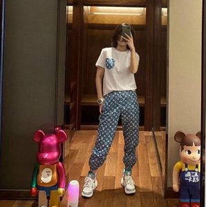 New women's dress of 2020, fashionable and casual ladies' trousers + short-sleeved suit, fashionable sports design, two-piece set