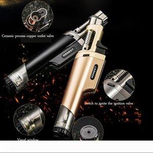 Gas Lighter Cigar Refillable Butane Torch Windproof Jet Flame Cigarette Lighters Smoking Accessories