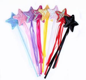 Halloween Kindertag Pailletten Zauberstab Pentagramm Party Maskerade Handschellen Engelsstab Zauberstab Star Fairy Stick HEISSER VERKAUF