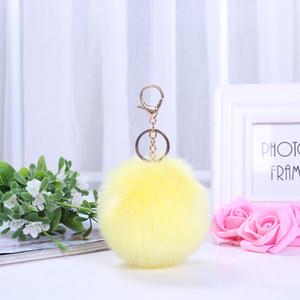 colgantes de lana de lana de bolas, Maomao bola de automóviles de alto grado-botón de la llave accesorio colgante, bola de lana de lana
