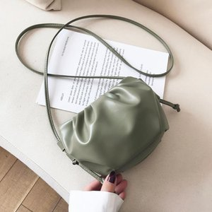 2020 New Fashion Cloud Shape Women Crossbody Bag Pleated Shoulder Messenger Bag Small Cute Lady
