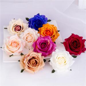 50pcs 9colors 7cm Decoração Rose Autumn cabeça Artificial Flores para DIY Wedding Recados Arch Stage Background Sencery Bouquet Acessório Prop